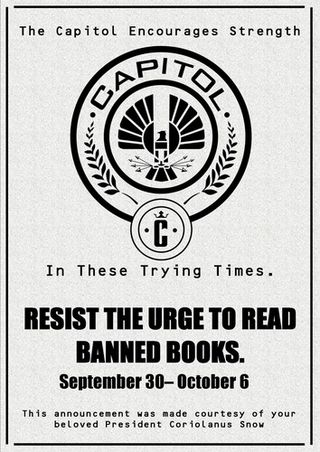 Hunger games banned books week