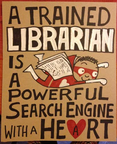 A trained librarian
