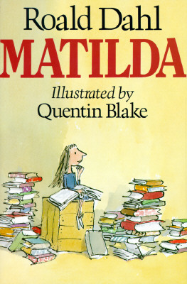 Matilda by Roald Dahl book cover