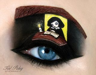 Anne-frank eye makeup