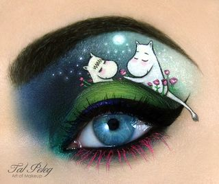 Moomins eye makeup